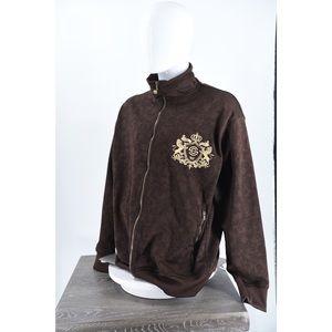 Sean Jean Paisley monogram Full Zip Gold crest